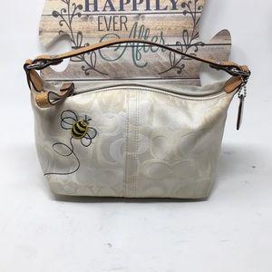 Coach Signature Bumble Bee Tote